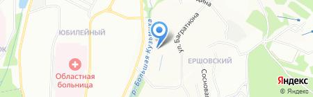Мироновская на карте Иркутска