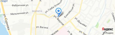 Авф-Гаф на карте Иркутска