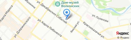 Элеганс на карте Иркутска