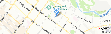 Степашка на карте Иркутска