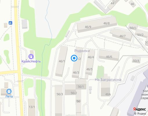 Управляющая компания «Управляющая Компания Родники» на карте Иркутска