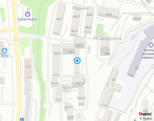 Товарищество собственников жилья «Экос» на карте Иркутска