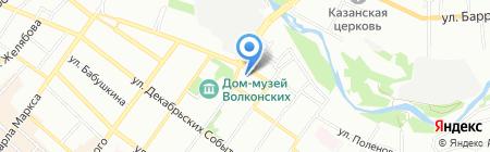 Елочка на карте Иркутска