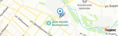 Загар+ на карте Иркутска