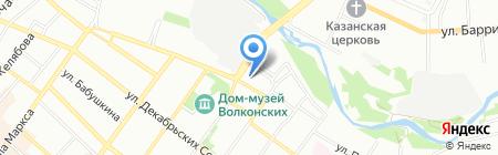 Пижон на карте Иркутска