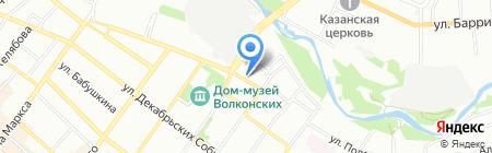 Байкальская Застава на карте Иркутска