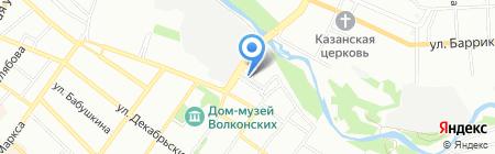 Лампочка на карте Иркутска