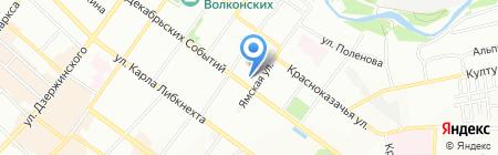 Пионер на карте Иркутска