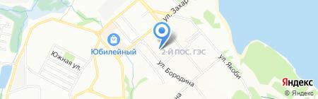 Новэль на карте Иркутска