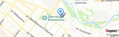 Мир офисной мебели на карте Иркутска