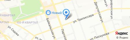 Старлайн на карте Иркутска