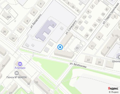 Товарищество собственников жилья «Западное» на карте Иркутска