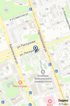 КУРЬЕРСКАЯ СЛУЖБА ПОНИ-ЭКСПРЕСС на карте Иркутска