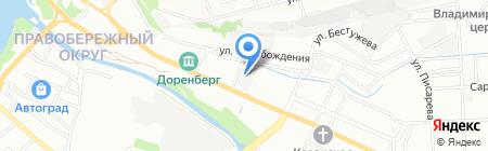 Автогаражный кооператив №1 на карте Иркутска