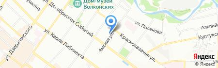 Поместье на карте Иркутска