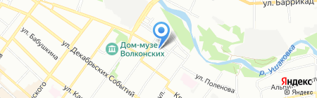 Альянс + на карте Иркутска