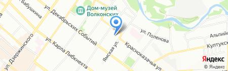 Цезарь на карте Иркутска