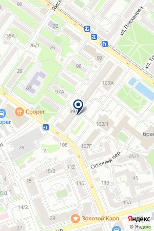 КБ МАК-БАНК на карте Иркутска