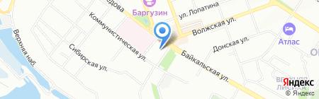 Юничел на карте Иркутска