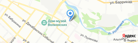 Находка на карте Иркутска