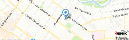 Золотой апельсин на карте Иркутска