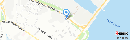 Автогаражный кооператив №14 на карте Иркутска