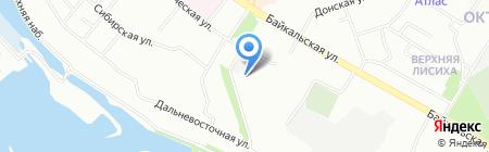 Слата на карте Иркутска