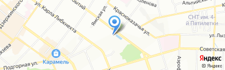 Буль-Вар на карте Иркутска