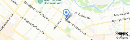 Атлант на карте Иркутска