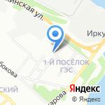 Средняя общеобразовательная школа №64 с углубленным изучением отдельных предметов на карте Иркутска