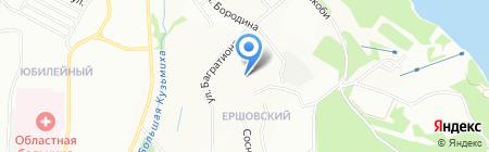 Серпантин на карте Иркутска