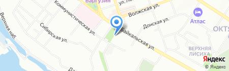 Масква на карте Иркутска