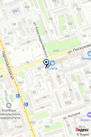 Дриада на карте Иркутска