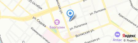 Долька на карте Иркутска
