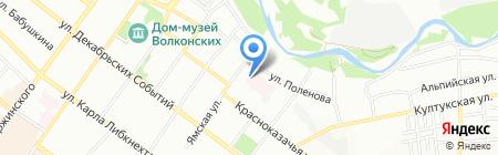 Иркутское протезно-ортопедическое предприятие на карте Иркутска