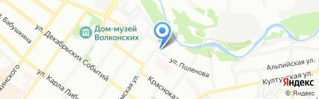 Гардиан на карте Иркутска