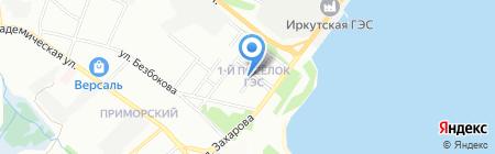 Авеню 38 на карте Иркутска