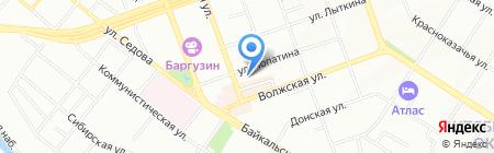 Хронос на карте Иркутска