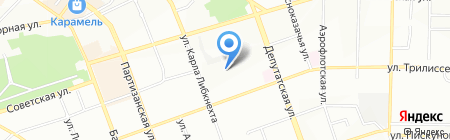 Средняя общеобразовательная школа №14 с углубленным изучением отдельных предметов на карте Иркутска