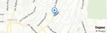 Цирюльникъ на карте Иркутска