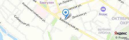 Атмосфера на карте Иркутска