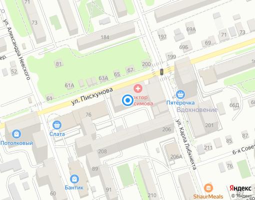Товарищество собственников жилья «Пискунова-98» на карте Иркутска