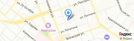Марафетъ на карте Иркутска