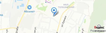 Топкинские горки на карте Иркутска