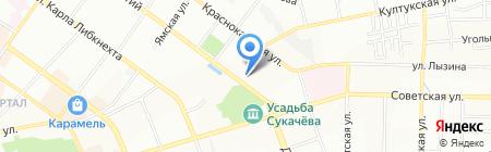 Автограф на карте Иркутска
