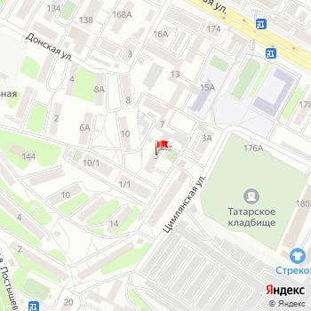 г. Иркутск, ул. Цимлянская,3 на карта