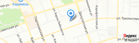 Ману на карте Иркутска