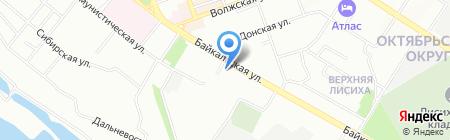 Ангара на карте Иркутска