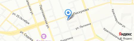 Автостоянка на карте Иркутска