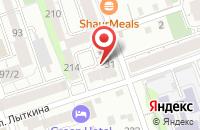 Схема проезда до компании Красная Линия в Иркутске